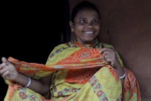 Bimala  Jani discussing water and sanitation with Siri Avalur