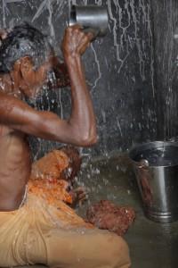 Dusyashan  Jani bathing